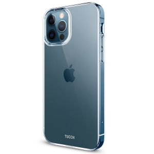TUCCH iPhone 12 TPU Case, iPhone 12 Pro Clear Case with Hard Back Soft Frame, Soft Flexible Shockproof Case - Crystal Clear