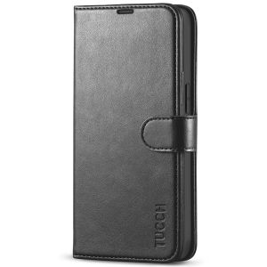 TUCCH iPhone 13 Wallet Case, iPhone 13 PU Leather Case, Folio Flip Cover with RFID Blocking, Credit Card Slots, Magnetic Clasp Closure - Black