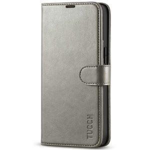 TUCCH iPhone 13 Wallet Case, iPhone 13 PU Leather Case, Folio Flip Cover with RFID Blocking, Credit Card Slots, Magnetic Clasp Closure - Grey