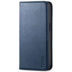 TUCCH iPhone 13 Wallet Case, iPhone 13 PU Leather Case, Flip Cover with Stand, Credit Card Slots, Magnetic Closure - Dark Blue