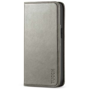 TUCCH iPhone 13 Wallet Case, iPhone 13 PU Leather Case, Flip Cover with Stand, Credit Card Slots, Magnetic Closure - Grey