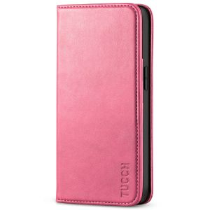 TUCCH iPhone 13 Wallet Case, iPhone 13 PU Leather Case, Flip Cover with Stand, Credit Card Slots, Magnetic Closure - Hot Pink