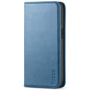 TUCCH iPhone 13 Wallet Case, iPhone 13 PU Leather Case, Flip Cover with Stand, Credit Card Slots, Magnetic Closure - Lake Blue