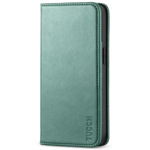 TUCCH iPhone 13 Wallet Case, iPhone 13 PU Leather Case, Flip Cover with Stand, Credit Card Slots, Magnetic Closure - Myrtle Green