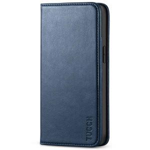 TUCCH iPhone 13 Mini Wallet Case, iPhone 13 Mini Flip Folio Book Cover, Magnetic Closure Phone Case - Dark Blue