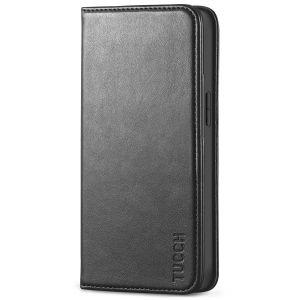 TUCCH iPhone 13 Mini Wallet Case, iPhone 13 Mini Flip Folio Book Cover, Magnetic Closure Phone Case - Black