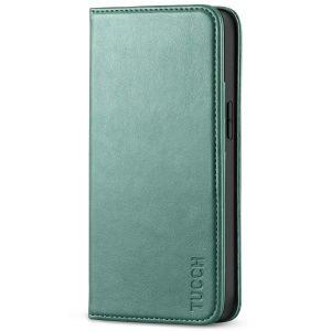 TUCCH iPhone 13 Mini Wallet Case, iPhone 13 Mini Flip Folio Book Cover, Magnetic Closure Phone Case - Myrtle Green