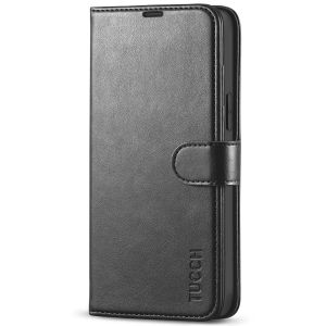 TUCCH iPhone 13 Pro Max Wallet Case, iPhone 13 Pro Max PU Leather Case with Folio Flip Book RFID Blocking, Stand, Card Slots, Magnetic Clasp Closure - Black