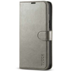 TUCCH iPhone 13 Pro Max Wallet Case, iPhone 13 Pro Max PU Leather Case with Folio Flip Book RFID Blocking, Stand, Card Slots, Magnetic Clasp Closure - Grey