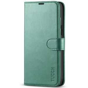 TUCCH iPhone 13 Pro Max Wallet Case, iPhone 13 Pro Max PU Leather Case with Folio Flip Book RFID Blocking, Stand, Card Slots, Magnetic Clasp Closure - Myrtle Green