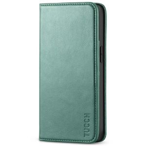 TUCCH iPhone 13 Pro Max Leather Case, iPhone 13 Pro Max PU Wallet Case with Stand Folio Flip Book Cover and Magnetic Closure - Myrtle Green