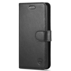 SHIELDON iPhone 8 Genuine Leather Wallet Case with Magnetic Clasp, Kickstand