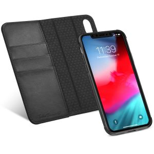 TUCCH iPhone XS Leather Wallet Case, iPhone XS Detachable Case, 2IN1 Folio / Flip Cover with RFID Blocking, Kickstand, Credit Card Slots, Magnetic Closure, Auto Sleep/Wake, Support Wireless Charging for iPhone 10S