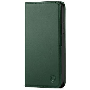 SHIELDON iPhone XR Wallet Case - iPhone XR Leather Case - Midnight Green