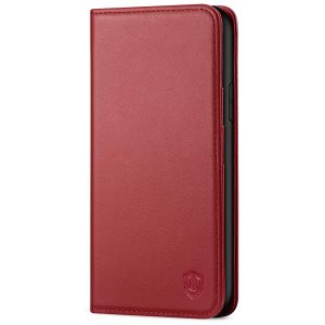 SHIELDON iPhone XR Wallet Case - iPhone XR Leather Case - Dark Red