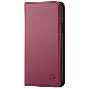 SHIELDON iPhone XR Wallet Case - iPhone XR Leather Case - Red Violet