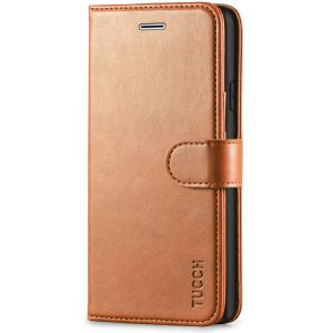 TUCCH iPhone XR Wallet Case - iPhone XR Leather Cover - Light Brown