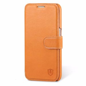 SHIELDON Galaxy S7 Genuine Leather Flip Book Case, Wallet Case with Magnetic Closure