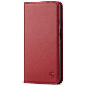 SHIELDON iPhone 12 Wallet Case - iPhone 12 5.4 Folio Case - Dark Red