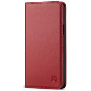 SHIELDON iPhone 12 Wallet Case - iPhone 12 Pro 6.1-inch Folio Leather Case - Dark Red