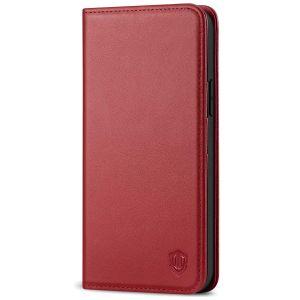 SHIELDON iPhone 12 Max Wallet Case - iPhone 12 Pro 6.1-inch Folio Leather Case - Dark Red