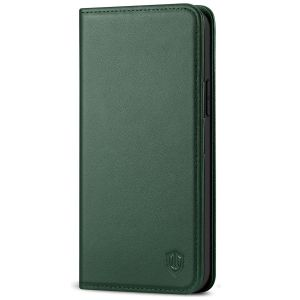 SHIELDON iPhone 13 Pro Max Wallet Case, iPhone 13 Pro Max Genuine Leather Cover - Midnight Green