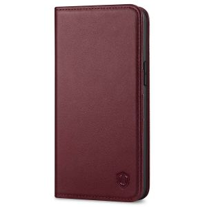 SHIELDON iPhone 12 Pro Max Wallet Case - iPhone 12 Pro Max 6.7-inch Folio Leather Case Cover - Wine Red