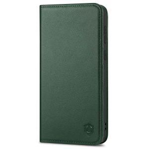 SHIELDON SAMSUNG S21 Wallet Case - SAMSUNG GALAXY S21 6.2-inch Folio Leather Case - Midnight Green