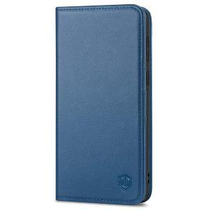 SHIELDON SAMSUNG S21 Wallet Case - SAMSUNG GALAXY S21 6.2-inch Folio Leather Case - Royal Blue