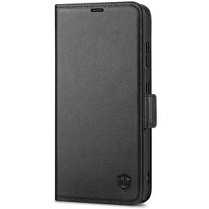 SHIELDON SAMSUNG S21 Ultra Wallet Case - SAMSUNG Galaxy S21 Ultra 6.8-inch Folio Leather Case with Double Magnetic Tab Closure - Black