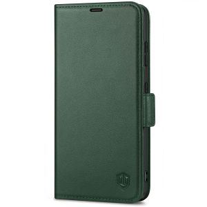 SHIELDON SAMSUNG S21 Ultra Wallet Case - SAMSUNG Galaxy S21 Ultra 6.8-inch Folio Leather Case with Double Magnetic Tab Closure - Midnight Green