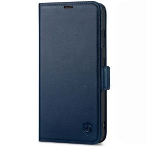 SHIELDON SAMSUNG S21 Ultra Wallet Case - SAMSUNG Galaxy S21 Ultra 6.8-inch Folio Leather Case with Double Magnetic Tab Closure - Navy Blue
