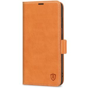 SHIELDON SAMSUNG S21 Ultra Wallet Case - SAMSUNG Galaxy S21 Ultra 6.8-inch Folio Leather Case with Double Magnetic Tab Closure - Brown