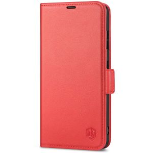SHIELDON SAMSUNG S21 Ultra Wallet Case - SAMSUNG Galaxy S21 Ultra 6.8-inch Folio Leather Case with Double Magnetic Tab Closure - Red