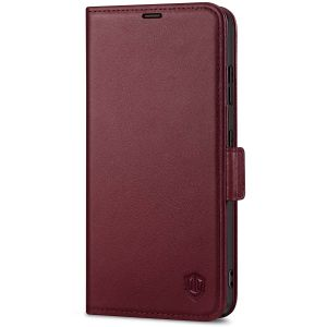 SHIELDON SAMSUNG S21 Ultra Wallet Case - SAMSUNG Galaxy S21 Ultra 6.8-inch Folio Leather Case with Double Magnetic Tab Closure - Wine Red