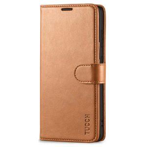 TUCCH SAMSUNG GALAXY A72 Wallet Case, SAMSUNG A72 Flip Case 6.7-inch - Light Brown