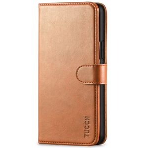TUCCH iPhone 11 Pro Wallet Case with Strap, iPhone 11 Pro Stand Case with Card Holder - Light Brown