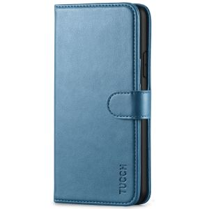 TUCCH iPhone 11 Pro Max Wallet Case for Men, iPhone 11 Pro Max Leather Cover with Magnetic Clasp - Lake Blue
