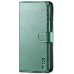 TUCCH iPhone 11 Pro Max Wallet Case for Men, iPhone 11 Pro Max Leather Cover with Magnetic Clasp - Myrtle Green