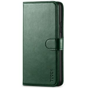 TUCCH iPhone 11 Pro Max Wallet Case for Men, iPhone 11 Pro Max Leather Cover with Magnetic Clasp - Midnight Green