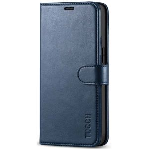 TUCCH iPhone 12 Mini 5.4-inch Flip Leather Wallet Case - Blue