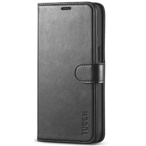 TUCCH iPhone 12 5.4-inch Flip Leather Wallet Case - Black