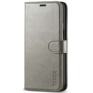 TUCCH iPhone 12 5.4-inch Flip Leather Wallet Case - Grey