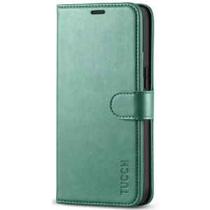 TUCCH iPhone 12 5.4-inch Flip Leather Wallet Case - Myrtle Green