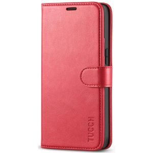 TUCCH iPhone 12 5.4-inch Flip Leather Wallet Case - Red