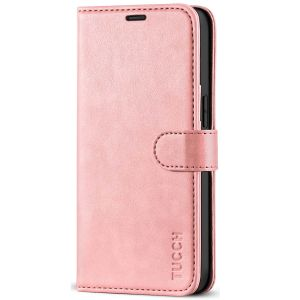 TUCCH iPhone 12 5.4-inch Flip Leather Wallet Case - Rose Gold