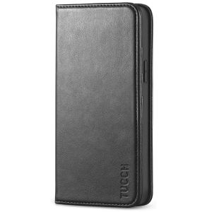 TUCCH iPhone 12 Wallet Case, iPhone 12 Flip Cover, Magnetic Closure Phone Case for iPhone 12 5G 5.4-inch Black