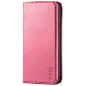 TUCCH iPhone 12 Mini Wallet Case, iPhone 12 Mini Flip Cover, Magnetic Closure Phone Case for Mini iPhone 12 5G 5.4-inch Hot Pink