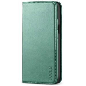 TUCCH iPhone 12 Mini Wallet Case, iPhone 12 Mini Flip Cover, Magnetic Closure Phone Case for Mini iPhone 12 5G 5.4-inch Myrtle Green