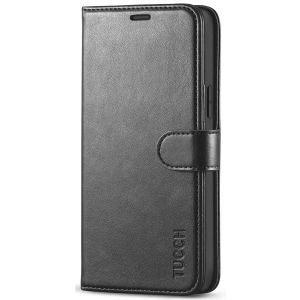 TUCCH iPhone 12 Wallet Case, iPhone 12 Pro Case, iPhone 12 / Pro 6.1-inch Flip Case - Black